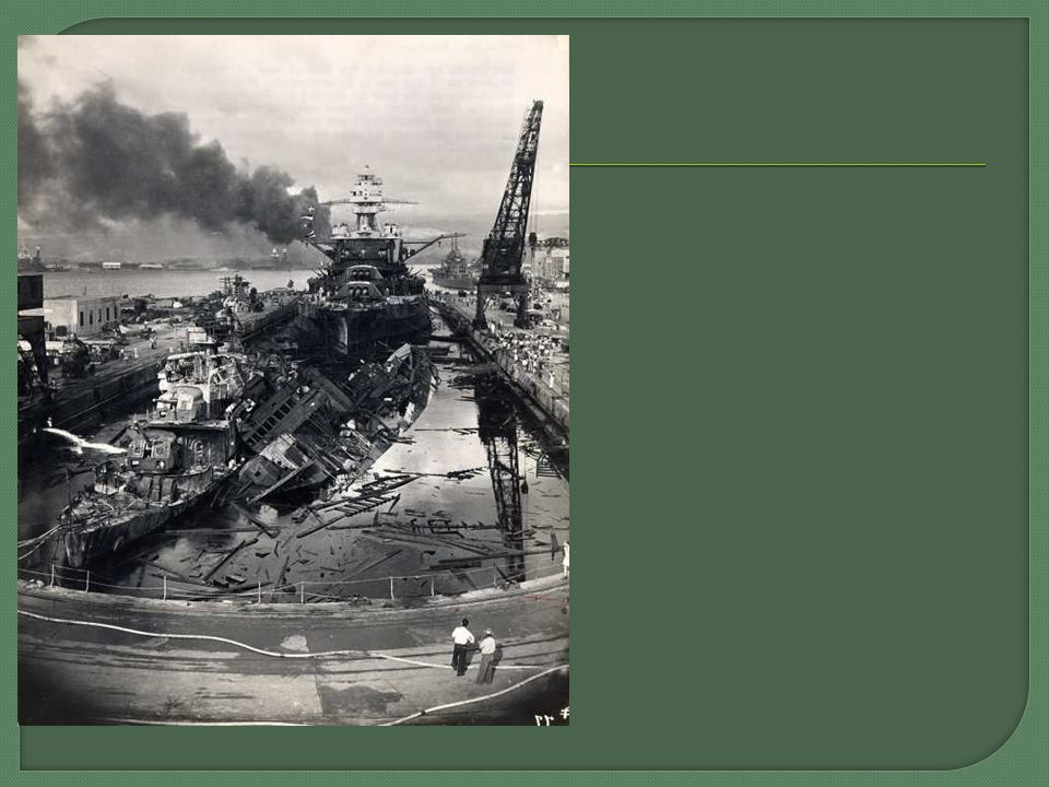  Pearl Harbor Casualties 188 aircraft destroyed 155 aircraft damaged, 2,345 military killed 1,247 military wounded 57 civilians killed 35 civilians wounded