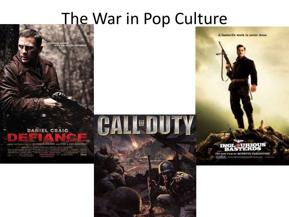 The War in Pop Culture