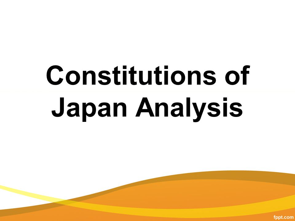 Constitutions of Japan Analysis