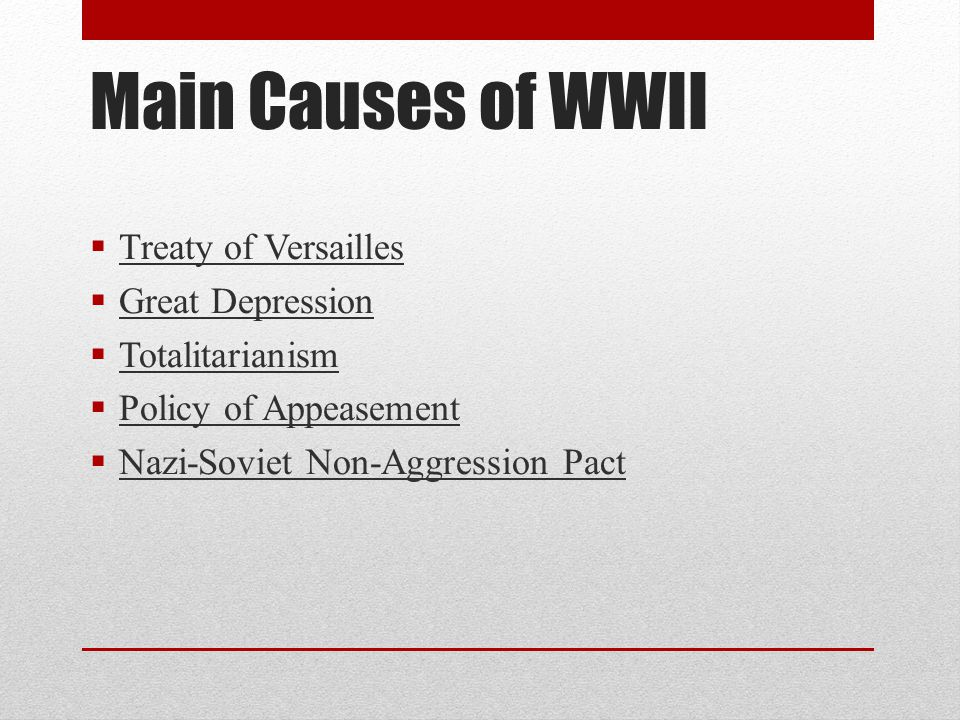 Treaty of Versailles  Allied powers met in early 1919 (at the end of WWI) to discuss Germany's fate  Purpose-prevent another world war  Harsh on Germany  Germany had to admit they started the war  Pay reparations $33 billion  Limited army to 100,000  Germany lost territory and colonies
