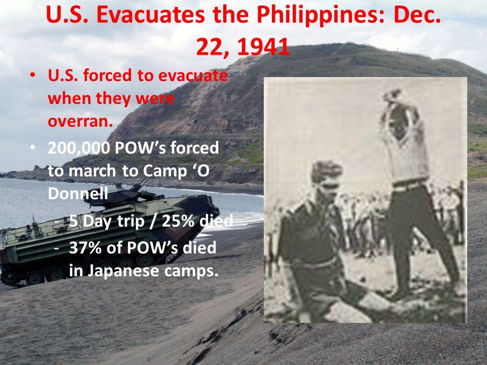 U.S. Evacuates the Philippines: Dec. 22, 1941 U.S.