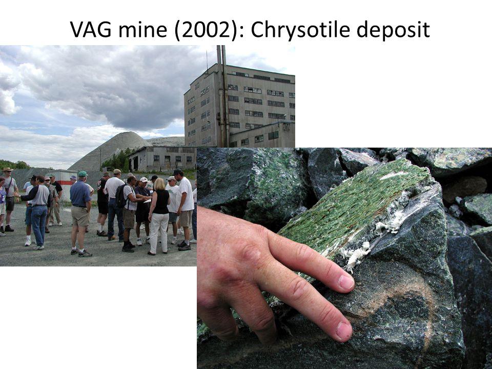 VAG mine (2002): Chrysotile deposit