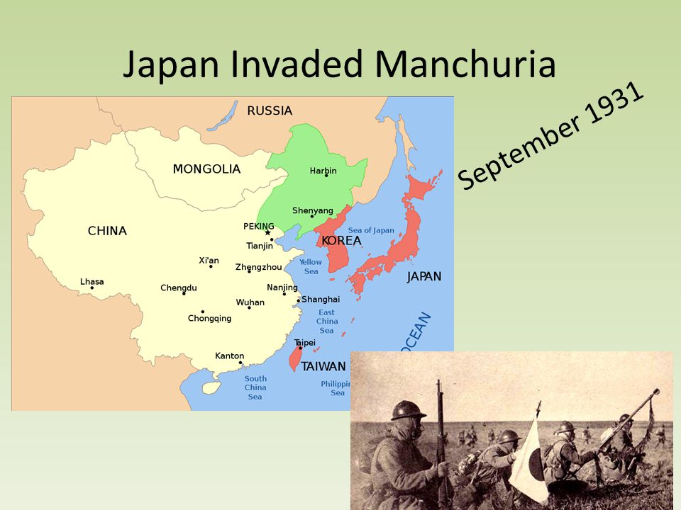 Japan Invaded Manchuria September 1931