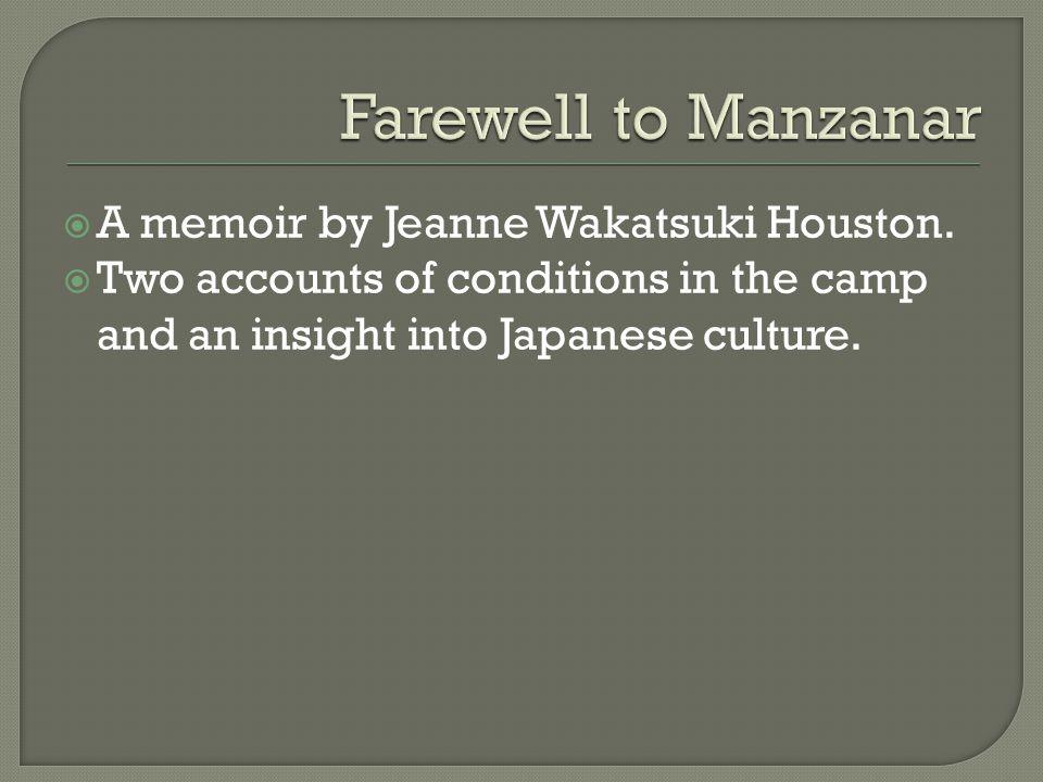  A memoir by Jeanne Wakatsuki Houston.