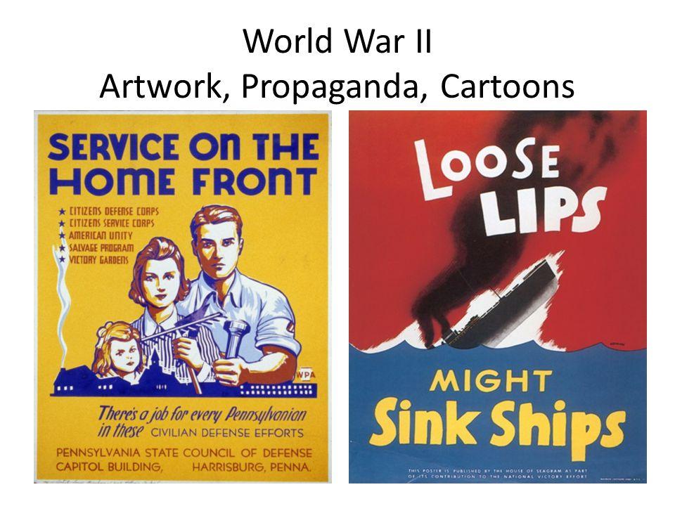 World War II Artwork, Propaganda, Cartoons