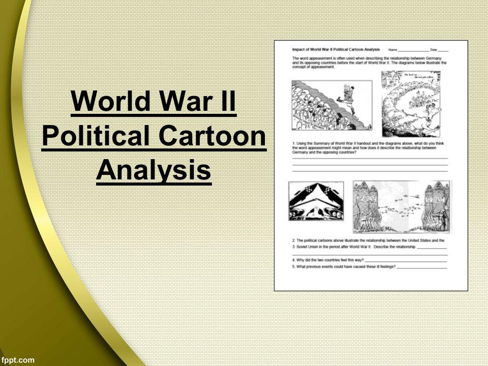 World War II Political Cartoon Analysis