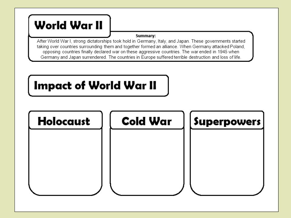 After World War I, strong dictatorships took hold in Germany, Italy, and Japan.
