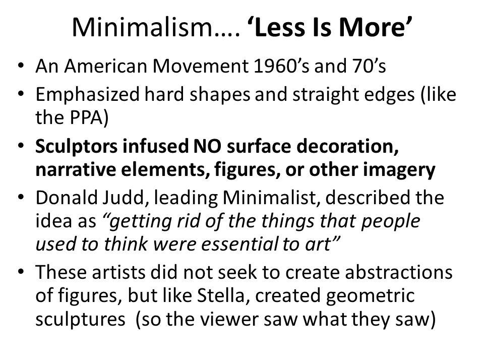 Minimalism….