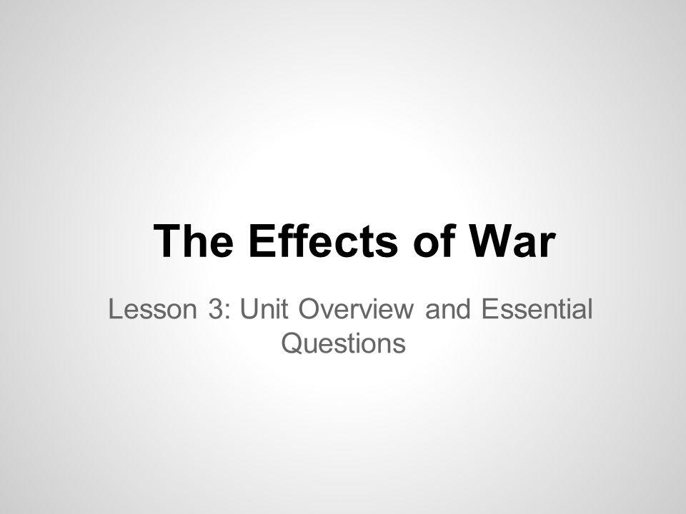Wars Explored in this Unit Iraq/Afghanistan Vietnam World War II World War I The Civil War