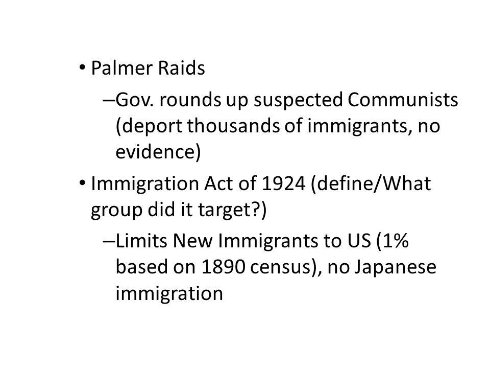 Palmer Raids – Gov.