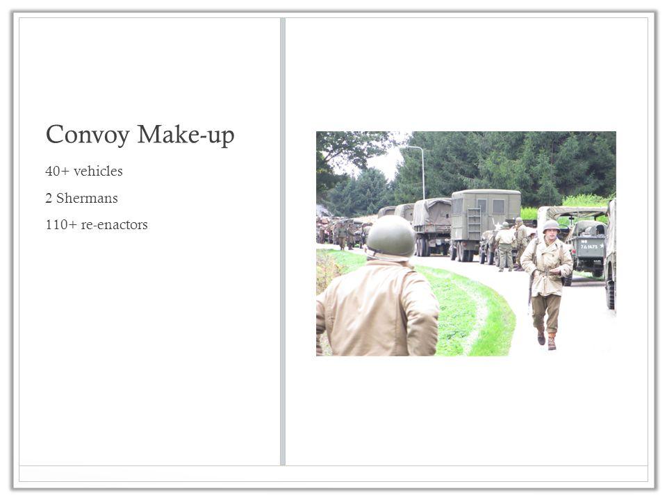 Convoy Make-up 40+ vehicles 2 Shermans 110+ re-enactors