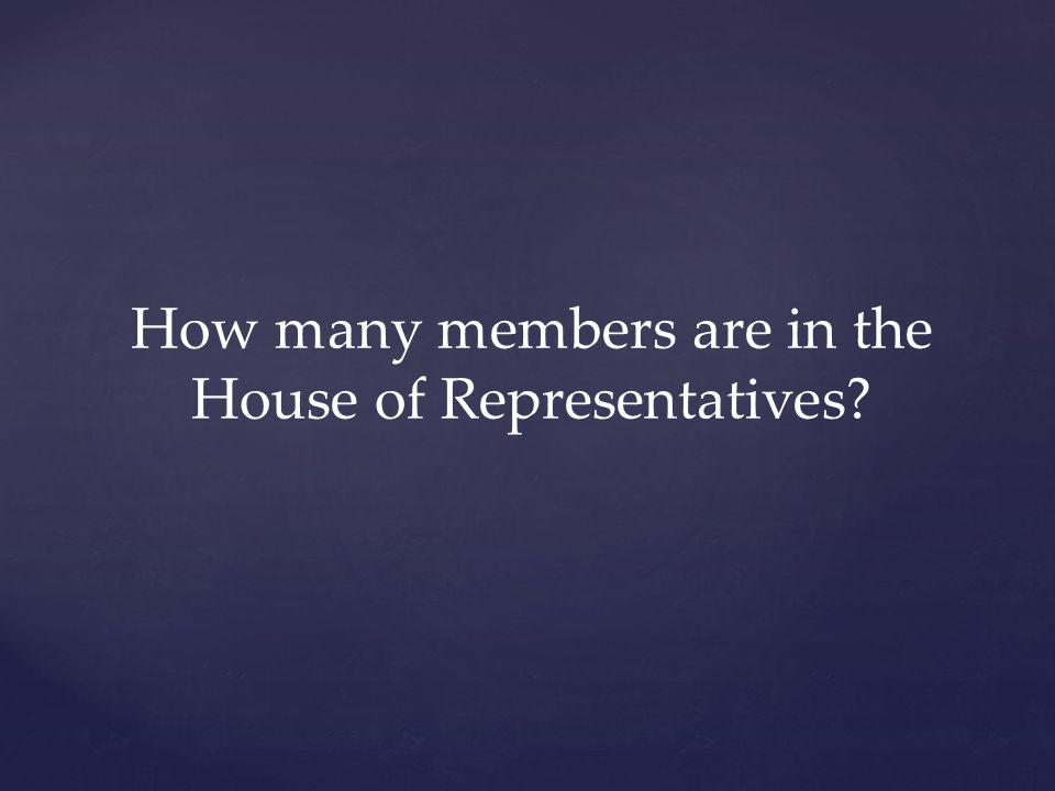 How many members are in the House of Representatives