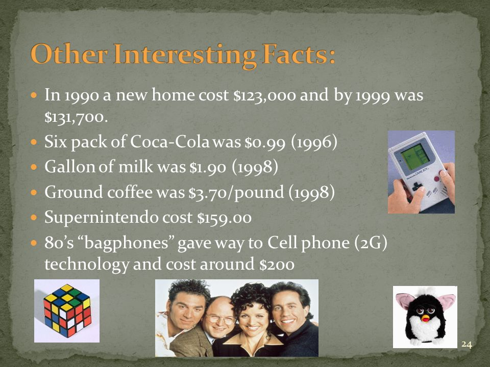 In 1990 a new home cost $123,000 and by 1999 was $131,700.