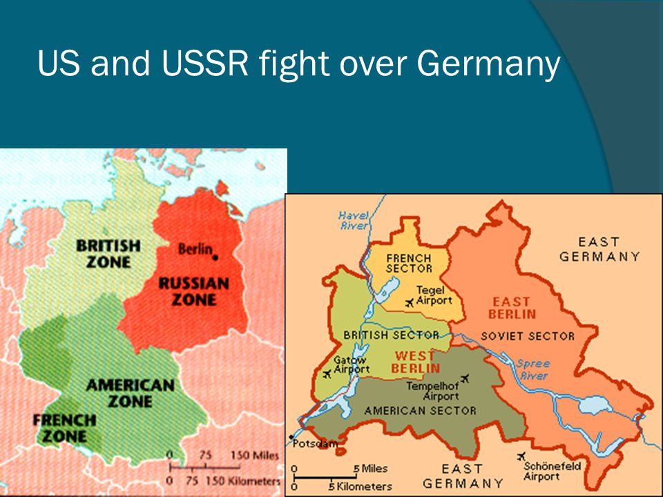 US and USSR fight over Germany