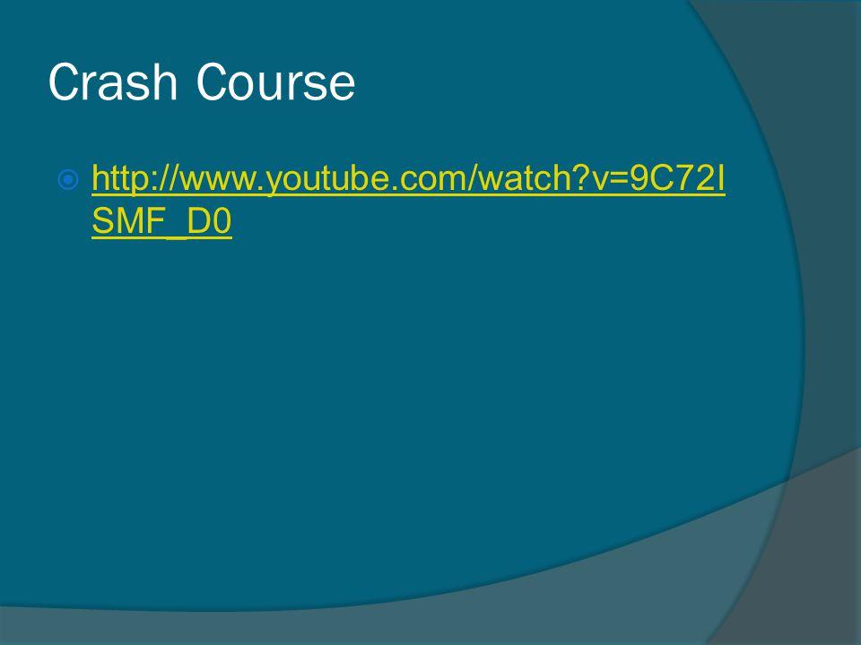 Crash Course  http://www.youtube.com/watch?v=9C72I SMF_D0 http://www.youtube.com/watch?v=9C72I SMF_D0