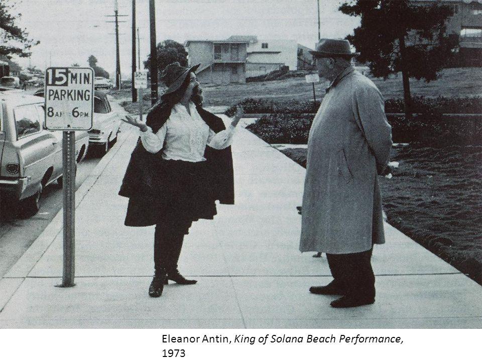 Eleanor Antin, King of Solana Beach Performance, 1973