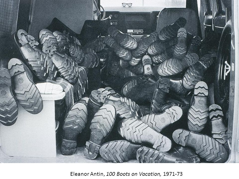 Eleanor Antin, 100 Boots on Vacation, 1971-73