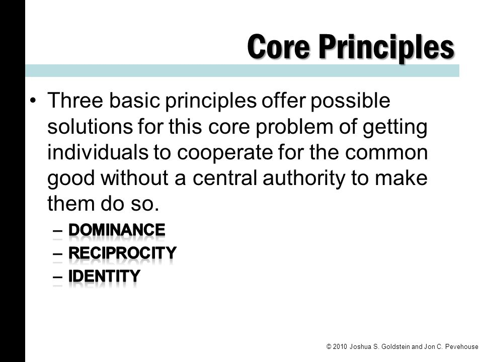 Core Principles © 2010 Joshua S. Goldstein and Jon C. Pevehouse