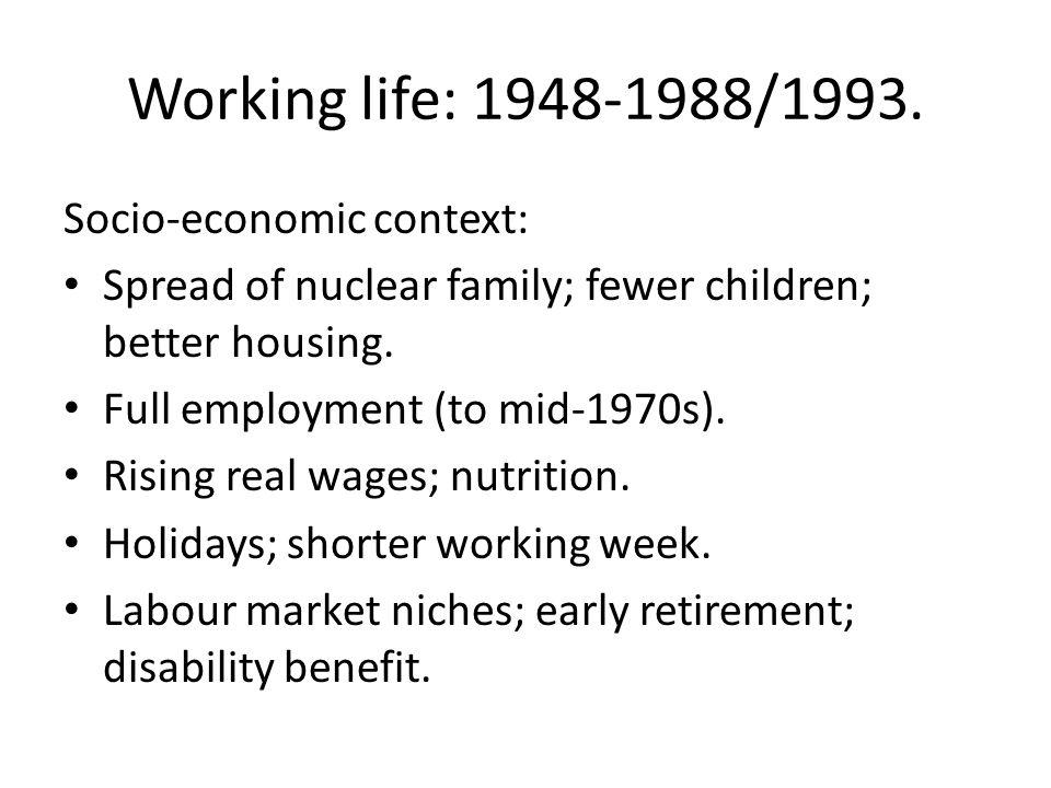 Working life: 1948-1988/1993.