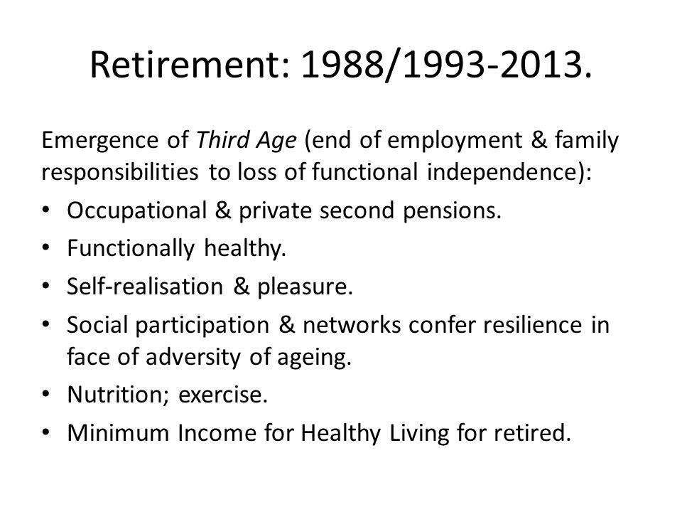 Retirement: 1988/1993-2013.