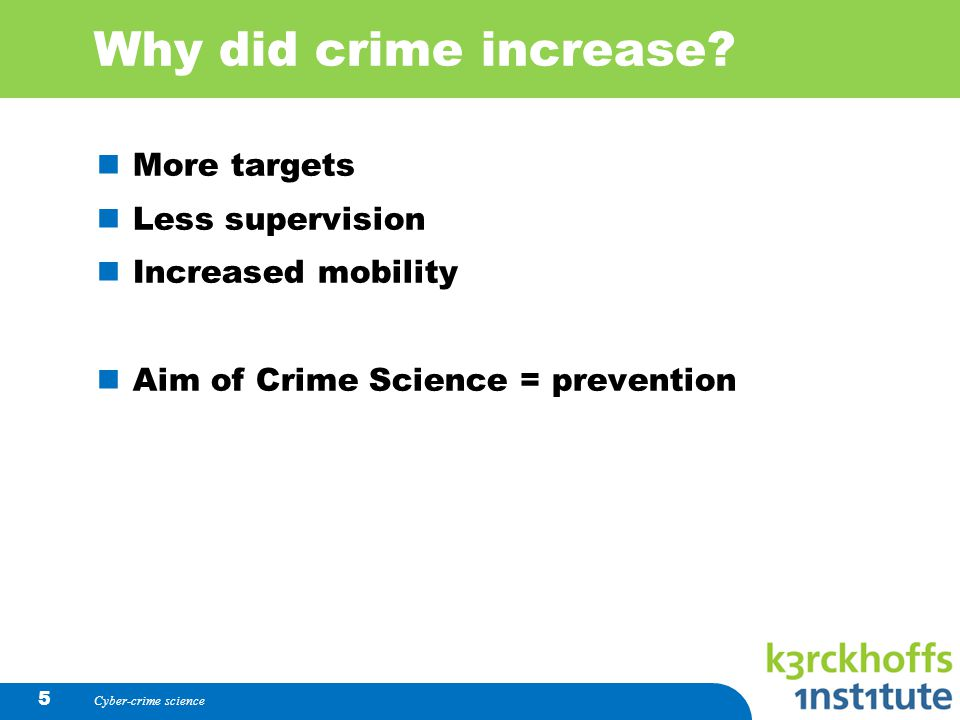 Why did crime increase.