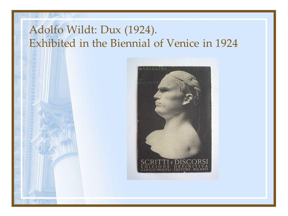 Adolfo Wildt: Dux (1924). Exhibited in the Biennial of Venice in 1924