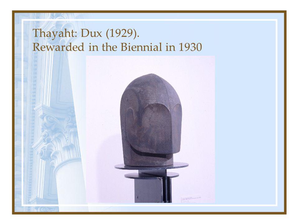 Thayaht: Dux (1929). Rewarded in the Biennial in 1930
