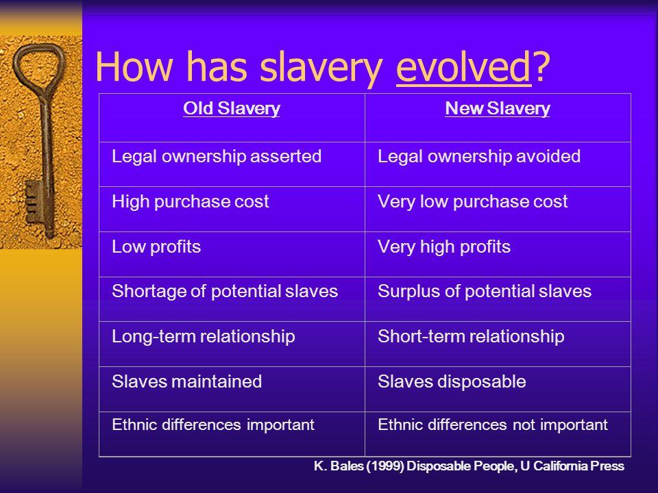 How do we define the new slavery.