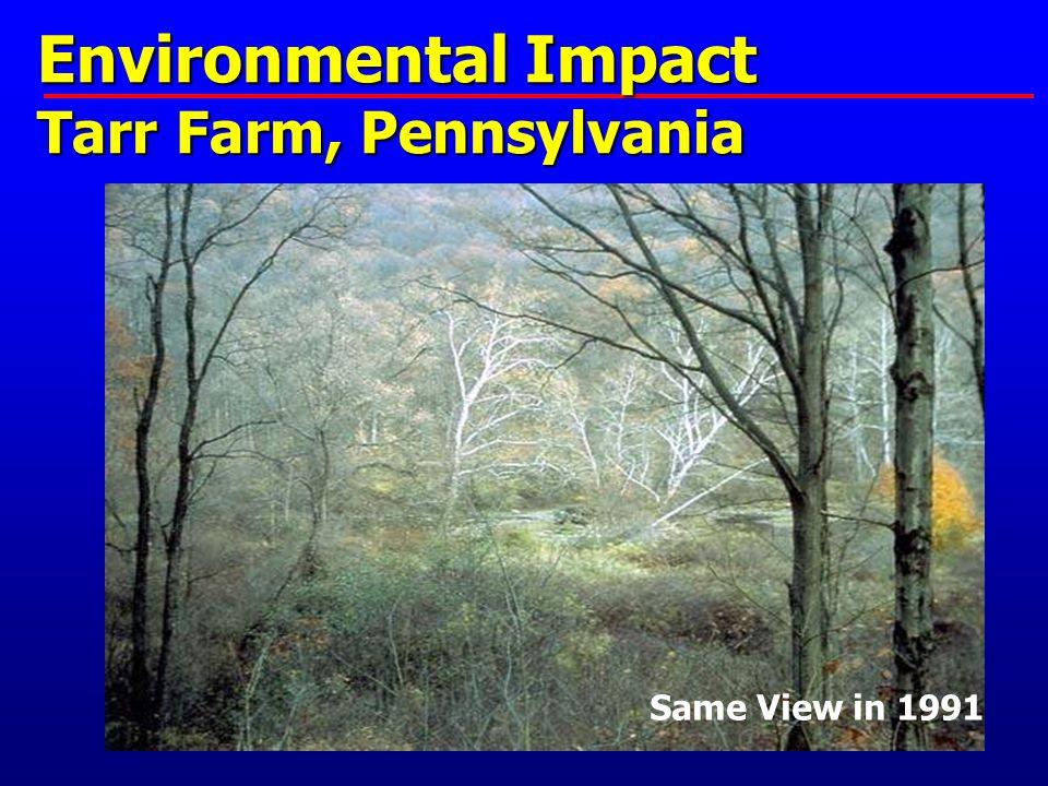 Environmental Impact Tarr Farm, Pennsylvania 1862 Same View in 1991