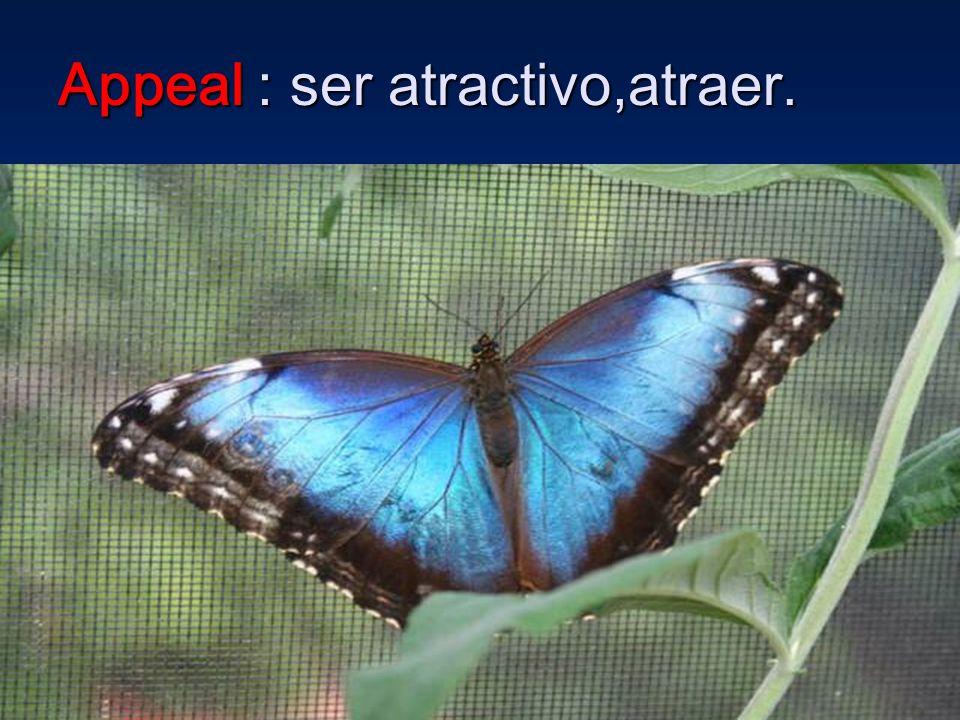 Appeal : ser atractivo,atraer.