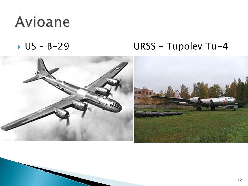  US – B-29 URSS – Tupolev Tu-4 12