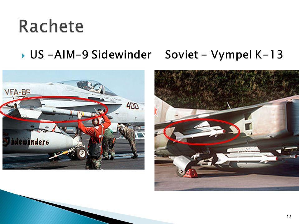  US -AIM-9 Sidewinder Soviet - Vympel K-13 13
