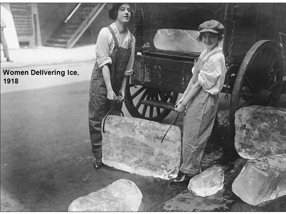 Women Delivering Ice, 1918