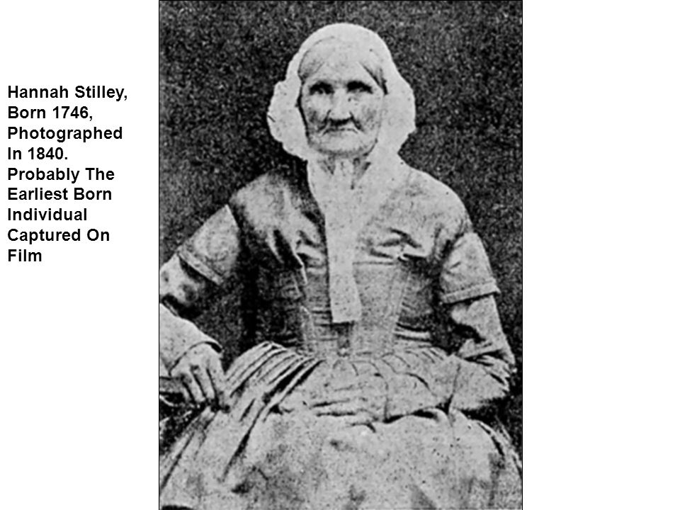 Hannah Stilley, Born 1746, Photographed In 1840.