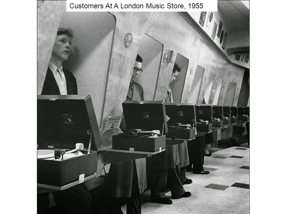 Customers At A London Music Store, 1955