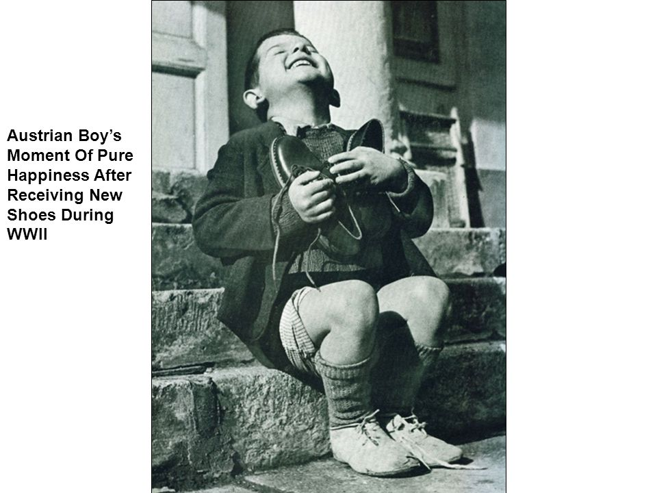 Austrian Boy's Moment Of Pure Happiness After Receiving New Shoes During WWII