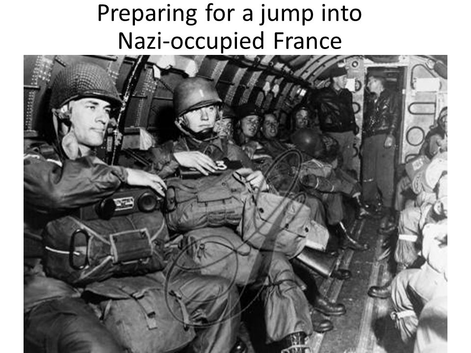 Preparing for a jump into Nazi-occupied France