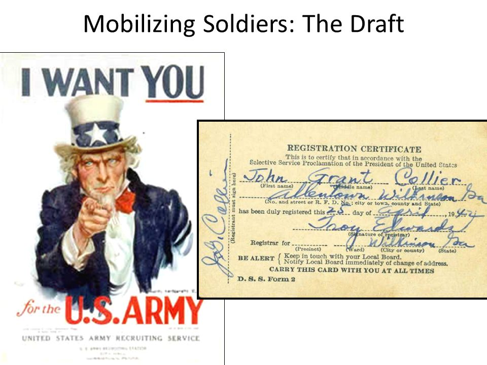 Mobilizing Soldiers: The Draft