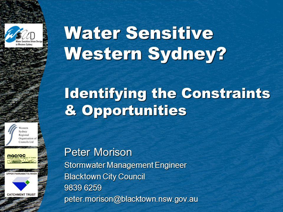 Water Sensitive Western Sydney.