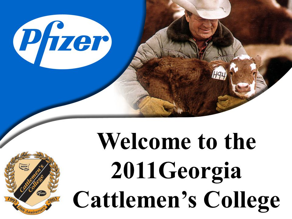 Welcome to the 2011Georgia Cattlemen's College