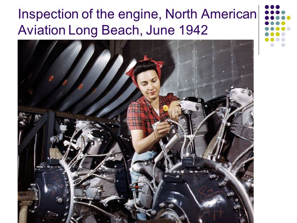 B-25 hangar manufacturing in the North American 1942