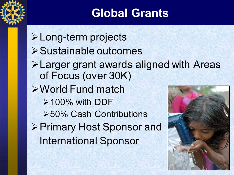 SHARE System Divides Annual Fund contributions between –District Designated Fund (DDF) –World Fund Transforms contributions into grants, etc.