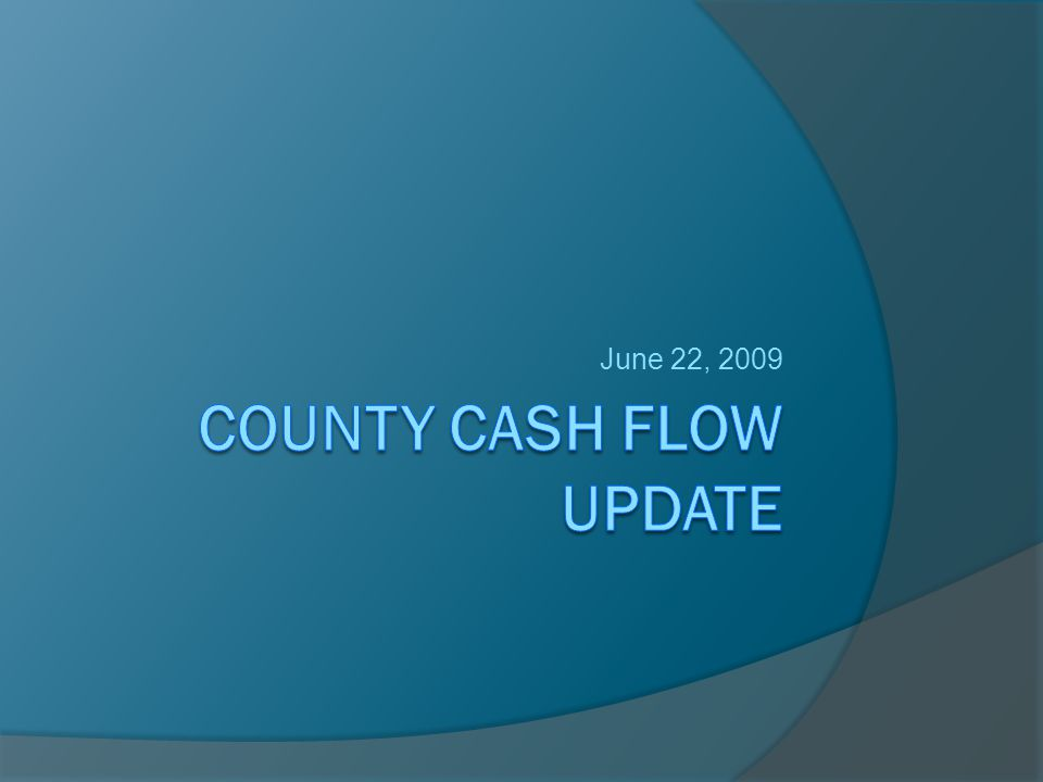 Weathering the Storm The EO, Treasurer's Office, and the ACO are looking at all our internal cash flow options.