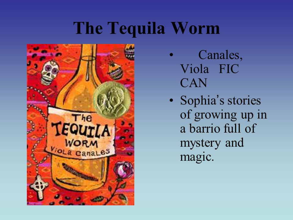 The Tequila Worm Canales, Viola FIC CAN Sophia ' s stories of growing up in a barrio full of mystery and magic.