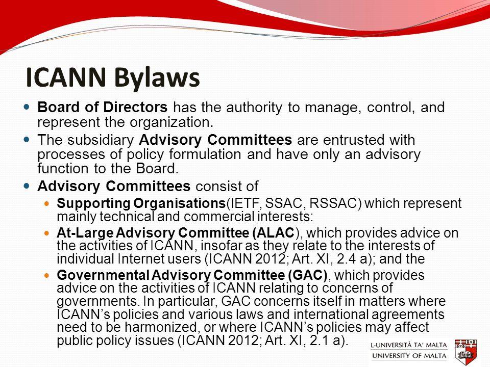 ICANN mandate Sept. 30 1998 - established as a non-profit corporation
