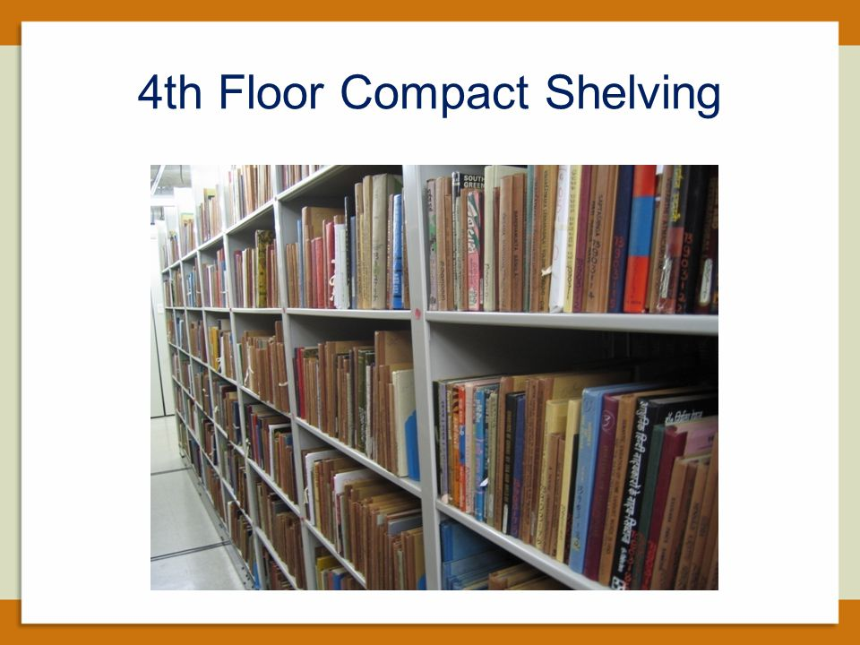 4th Floor Compact Shelving