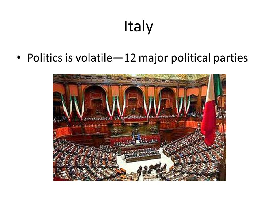 Italy Politics is volatile—12 major political parties