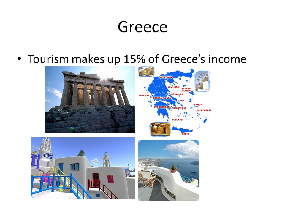 Greece Tourism makes up 15% of Greece's income