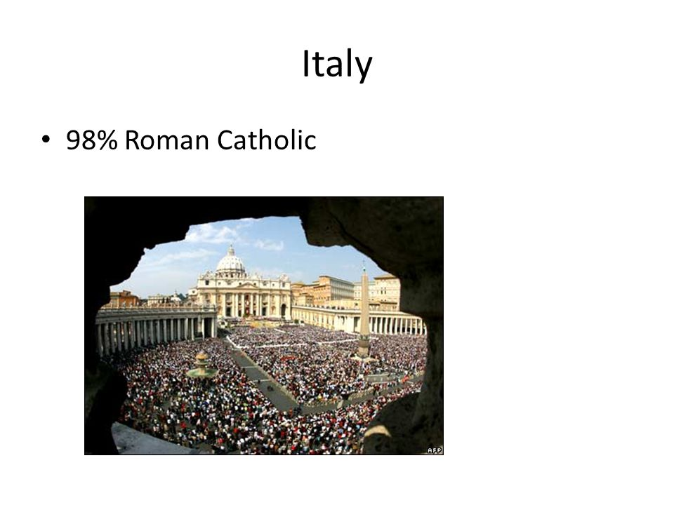 98% Roman Catholic