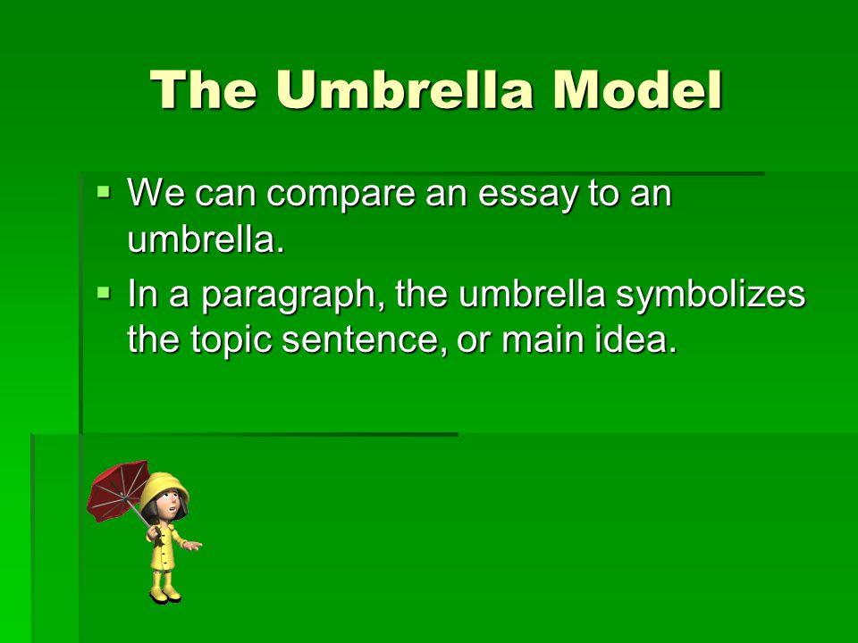 Why an umbrella.